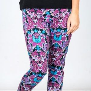 Bold Floral Pattern Pants